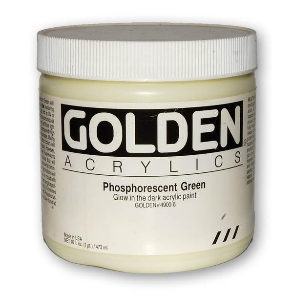 Golden Phosphorescent Acrylic Paint