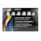 Golden Professional Acrylic Set of 6 x 59ml Tubes