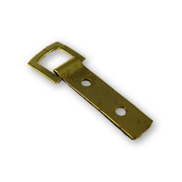 Hanging Accessories - Strap Hanger, Brass Plated, 2-Hole