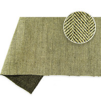 Herringbone Twill Linen 535gsm Natural & Brown