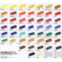 Golden Fluid Acrylic Hand Painted Colour Chart
