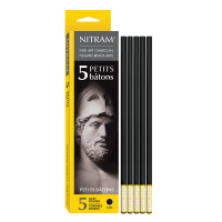 Nitram Charcoal Soft Round 6mm