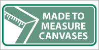 Made to measure canvases